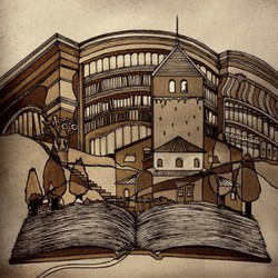 世界の童話シリーズその217「くまと旅人」